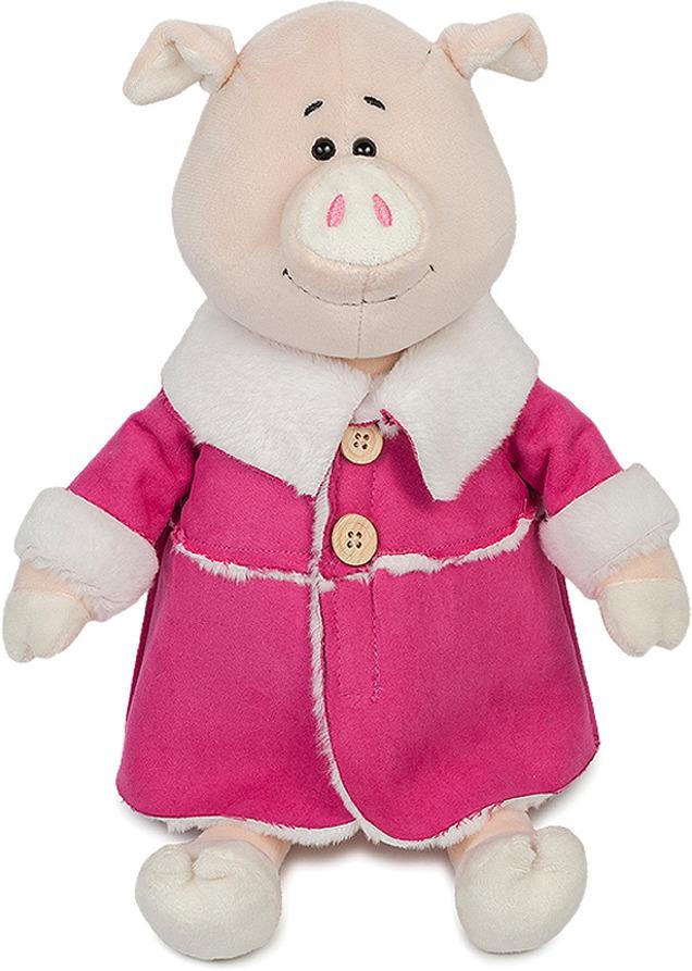 Мягкая игрушка Maxitoys Luxury Свинка Глаша в дубленке, MT-MRT031803-32S