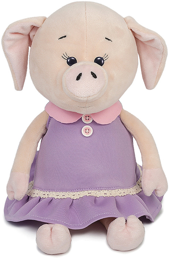 Мягкая игрушка Maxitoys Luxury Свинка Наденька в платье, MT-MRT031807-26 мягкие игрушки maxitoys собачка наденька с сердцем