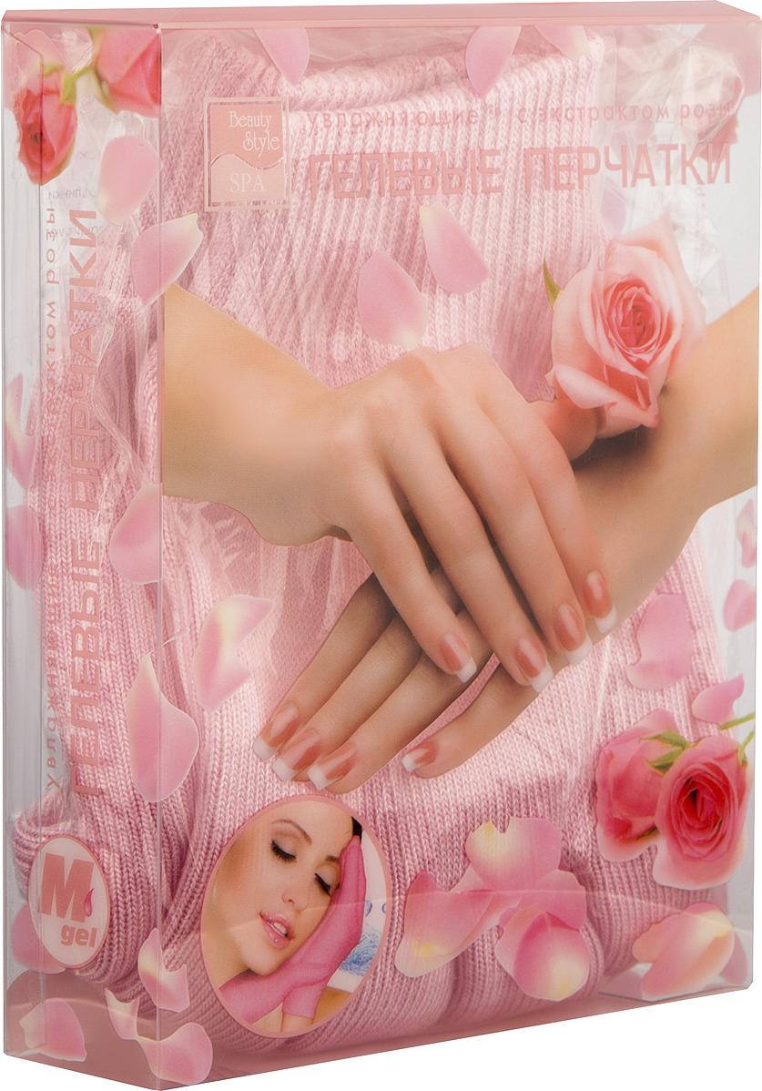 Перчатки маникюрные Beauty Style GelSmart увлажняющие с экстрактом розы Beauty Style