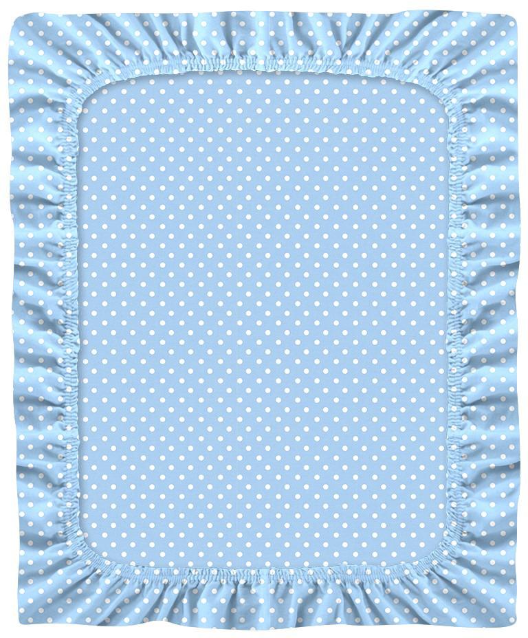 Простыня детская Bonne Fee ОДПР-60х120/2, голубой, 60 х 120 см bonne fee простыня детская совы цвет розовый 70 х 100 см