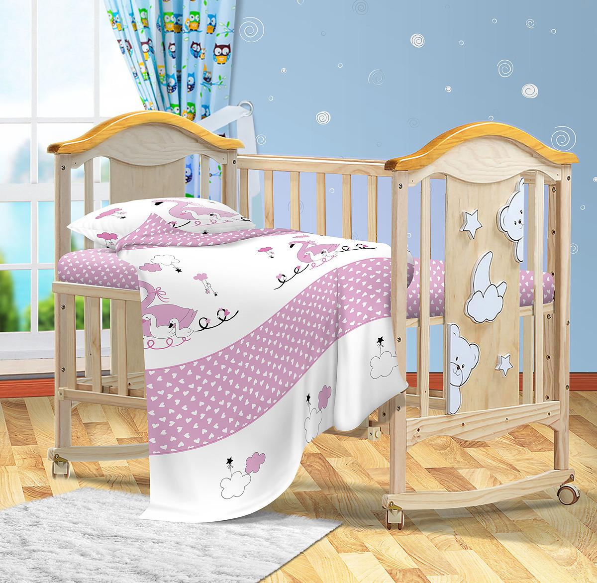 Комплект постельного белья детский Bonne Fee ОДР-110х140/1, розовый комплект постельного белья детский bonne fee опдр 110х140 3 розовый