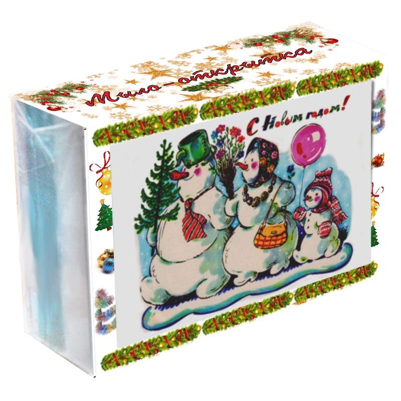 """Мыло туалетное ЭЛИБЭСТ Мыло-открытка """"С Новым годом!"""""""