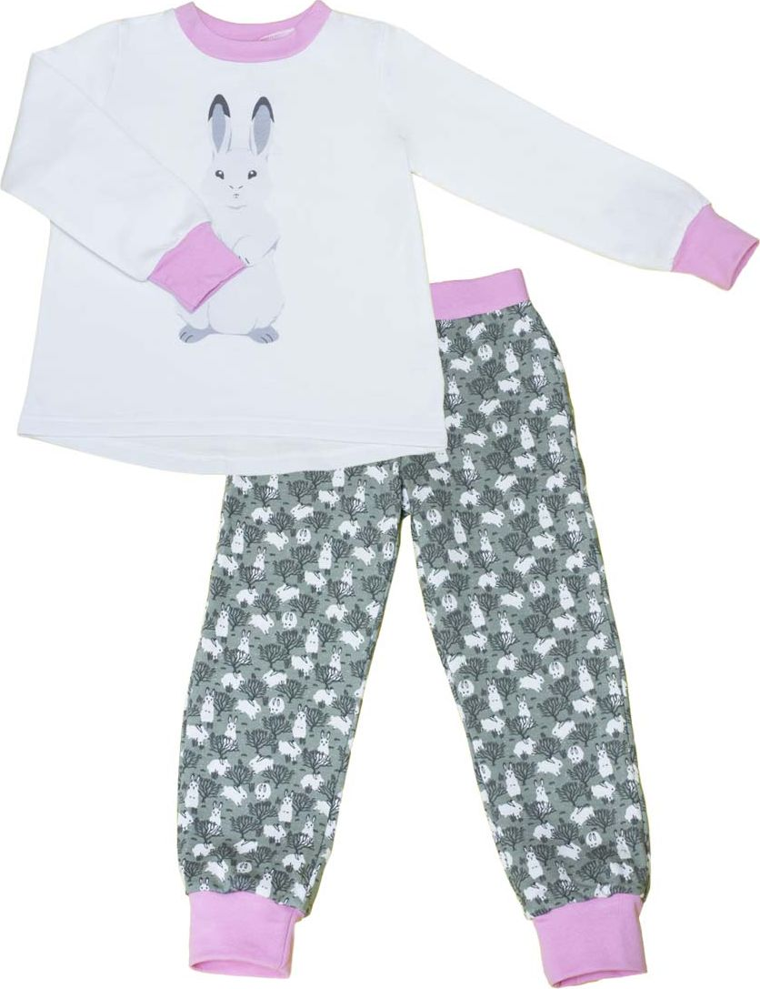 Пижама для девочки КотМарКот, цвет: светло-бежевый. 16495. Размер 13416495