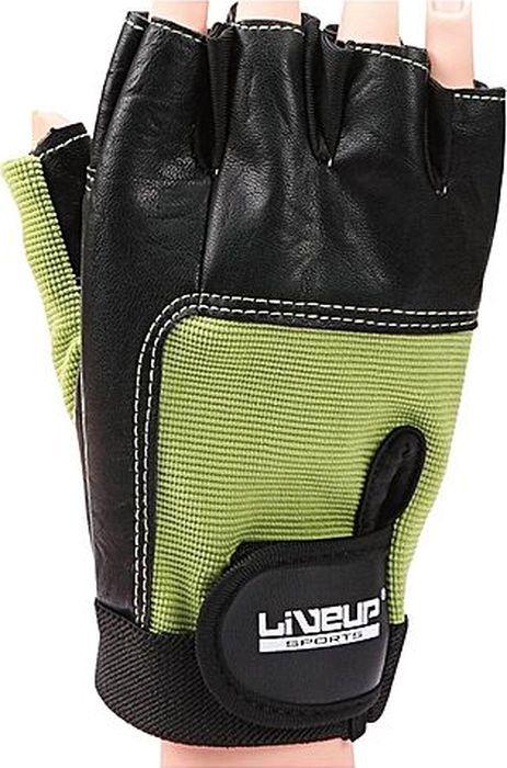 Перчатки для фитнеса Liveup Training Glove, LS3058-SM, черный, зеленый, размер S/M цена
