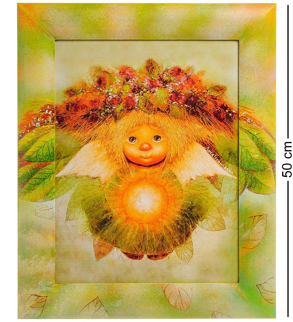 Фото - ANG-254 Жикле в раме '''Солнечный ангел'' 30х40 ang 79 жикле в раме ангел надежды и веры 30х40