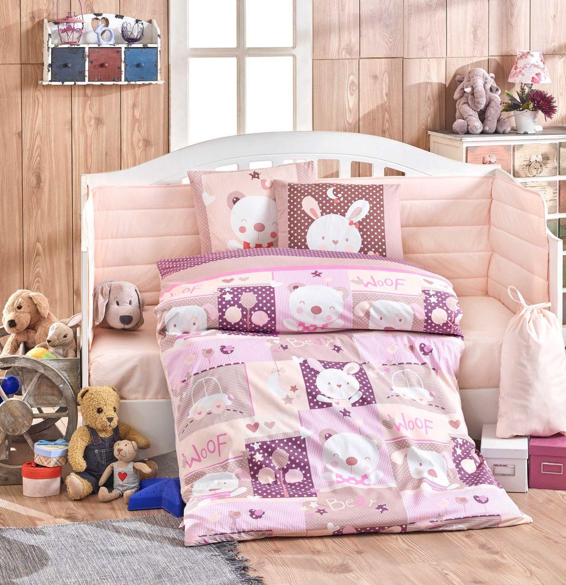 цена Комплект постельного белья Hobby Home Collection Snoopy, с одеялом, наволочки 35x45, цвет: розовый. 1501002166 онлайн в 2017 году
