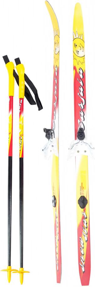 Беговые лыжи Karjala Snowstar 3913 с креплением 75 мм, желтый, рост 110 см