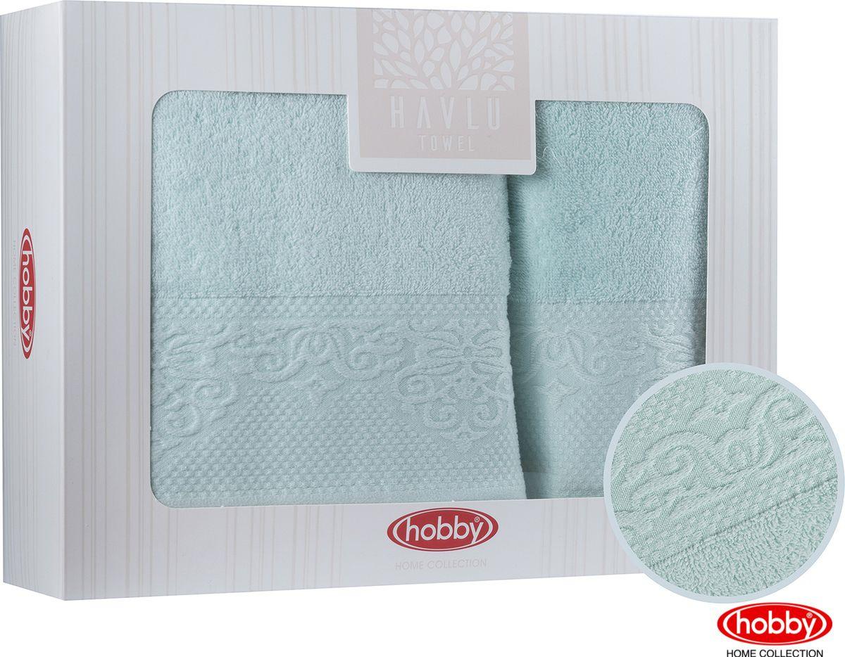 Набор банных полотенец Hobby Home Collection Alice 2000000012, минт, 2 шт