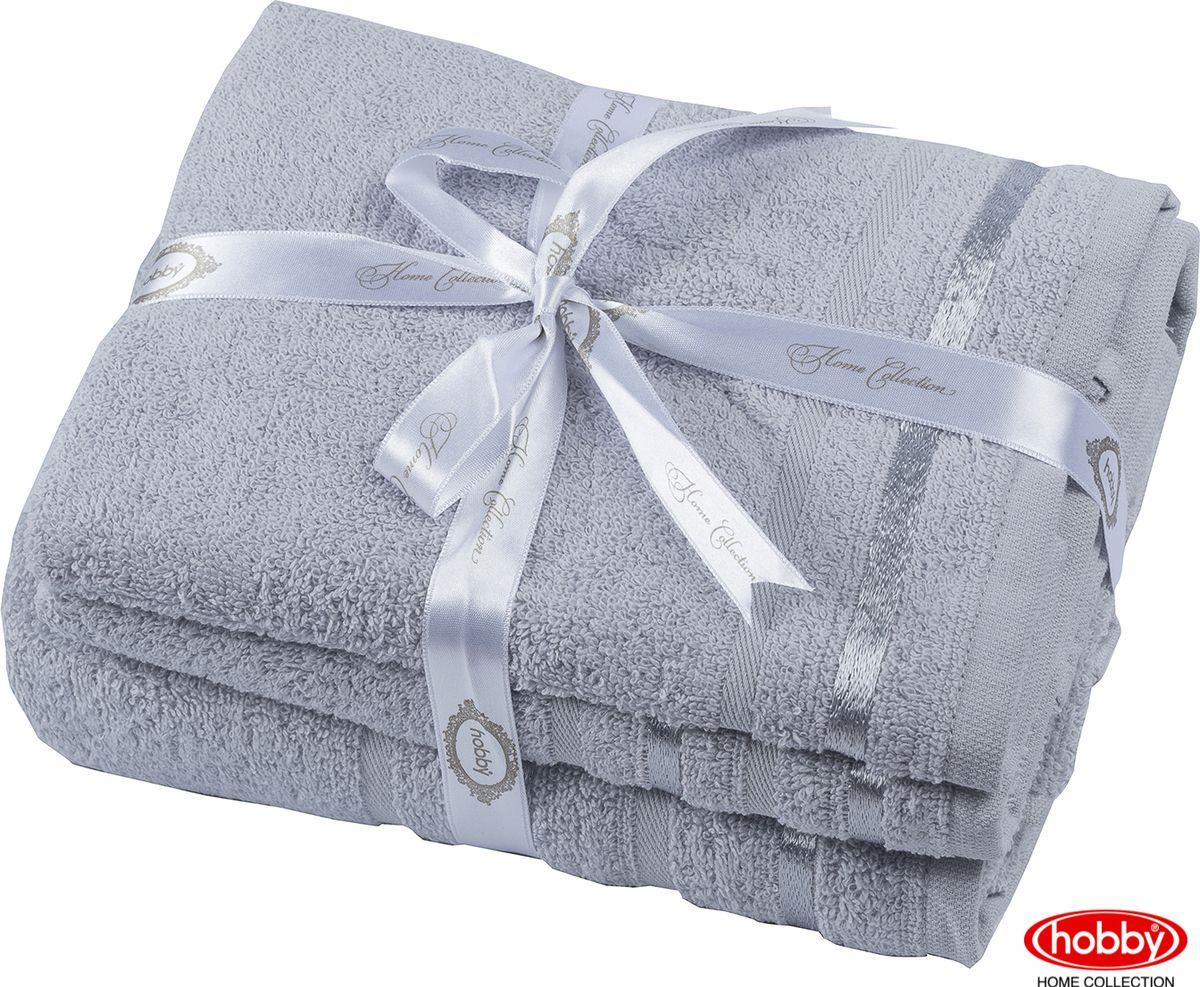 Набор банных полотенец Hobby Home Collection Nisa 2000000165, светло-серый, 3 шт набор полотенец hobby home collection dolce цвет светло серый 3 шт