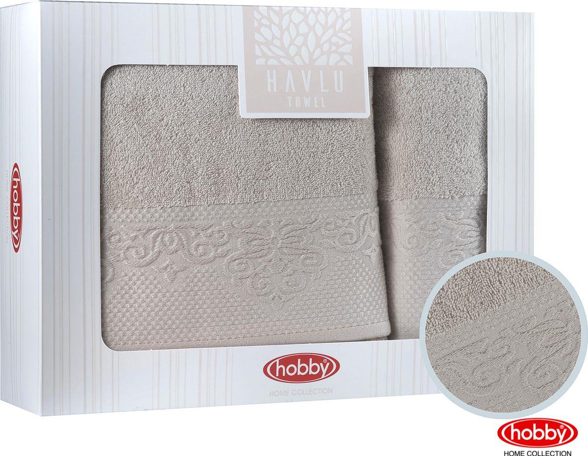 Набор банных полотенец Hobby Home Collection Alice 2000000010, бежевый, 2 шт