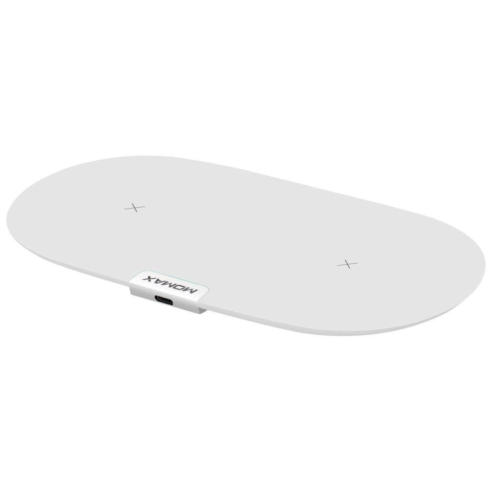 Фото - Беспроводное зарядное устройство для двух смартфонов Momax Q.Pad Dual Wireless Charger - Белый беспроводное зарядное устройство momax q dock wireless charging dock белый