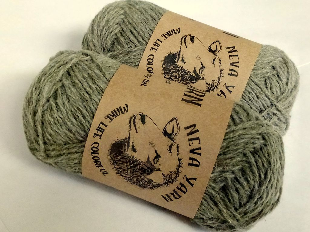 Пряжа для вязания Neva Yarn, оливковый, 2х50 г