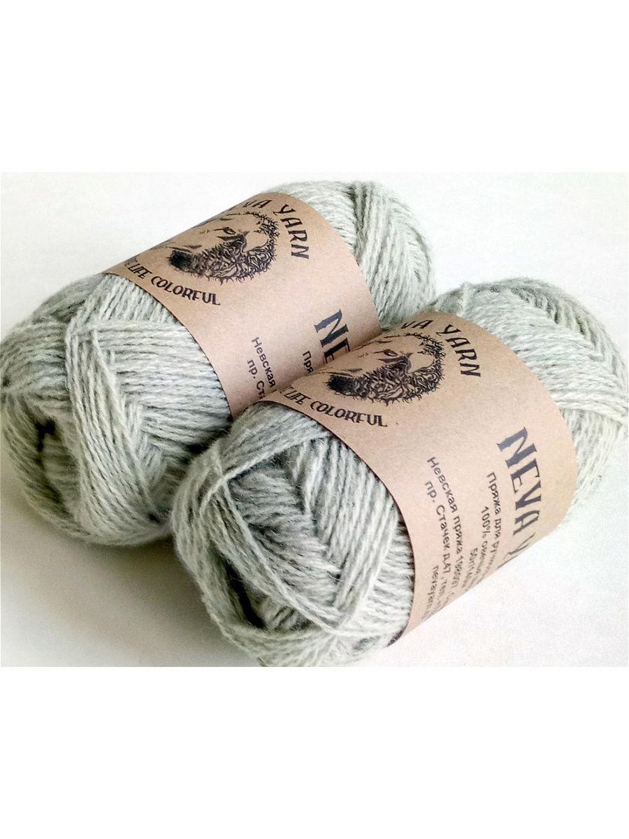 Пряжа для вязания Neva Yarn,мятный, 2х50 г