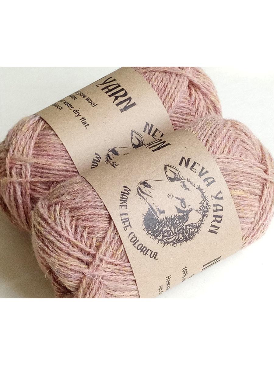 Пряжа для ручного вязания Neva yarn 2014A, тутти-фрутти, 2Х50 гр, 100% овечья шерсть
