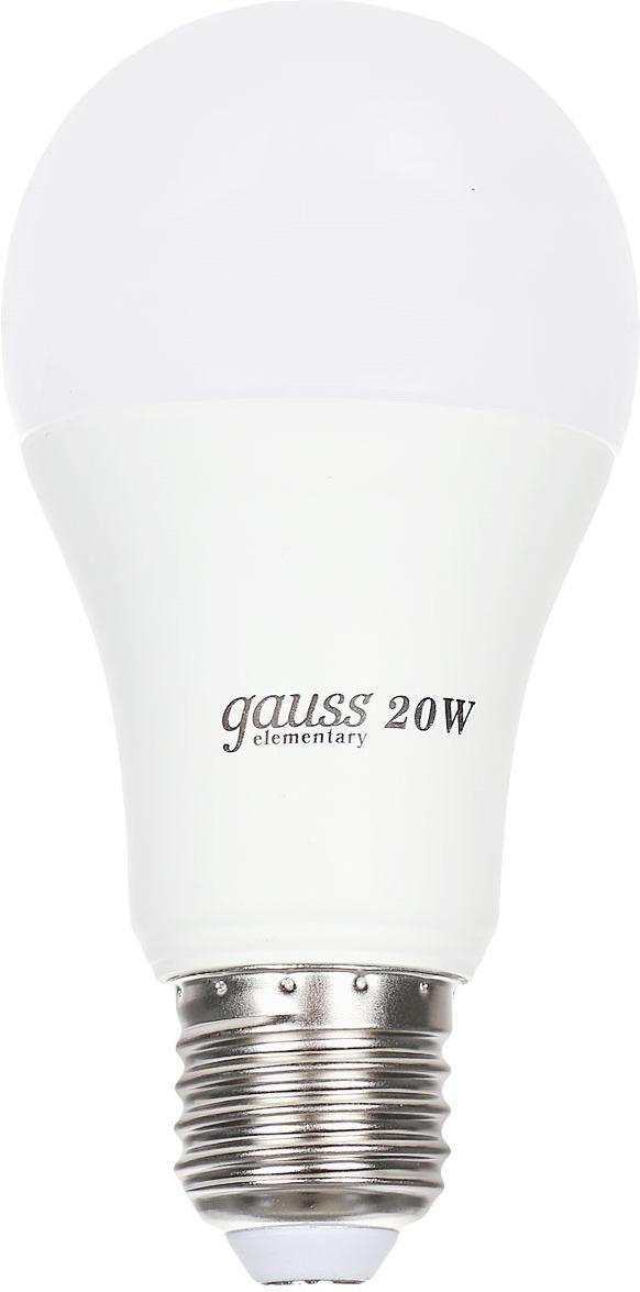 "Лампа светодиодная Gauss ""LED Elementary"", A60, 20W, E27, 3000K, 1/10/40"