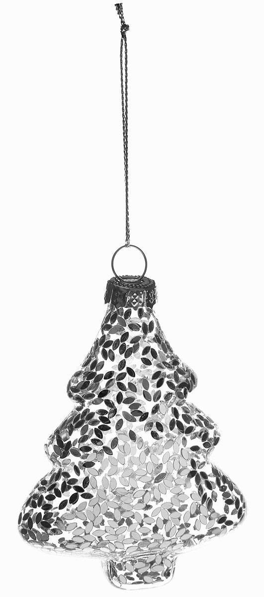 Новогоднее подвесное украшение Magic Time Серебряная елочка, 8 x 3 x 6 см украшение новогоднее елочка заснеженная цвет красный 14 5 см 35691