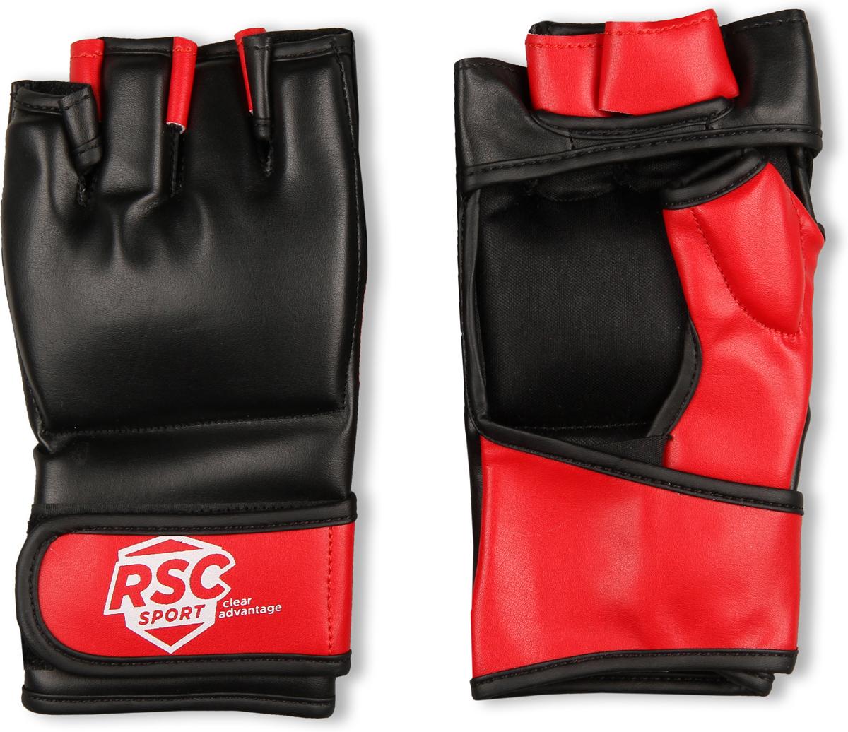 Перчатки ММА RSC PU BF-MM-4001, 00026603, красный, черный, размер XL шлем боксерский rsc pu bf bx 208 00026585 красный размер xl