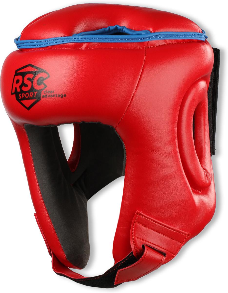 Шлем боксерский RSC PU BF BX 208, 00026579, красный, размер S шлем боксерский rsc pu bf bx 208 00026585 красный размер xl