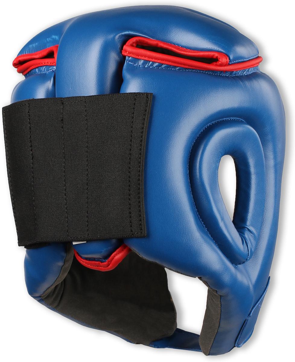 Шлем боксерский RSC PU BF BX 208, 00026584, синий, размер L RSC