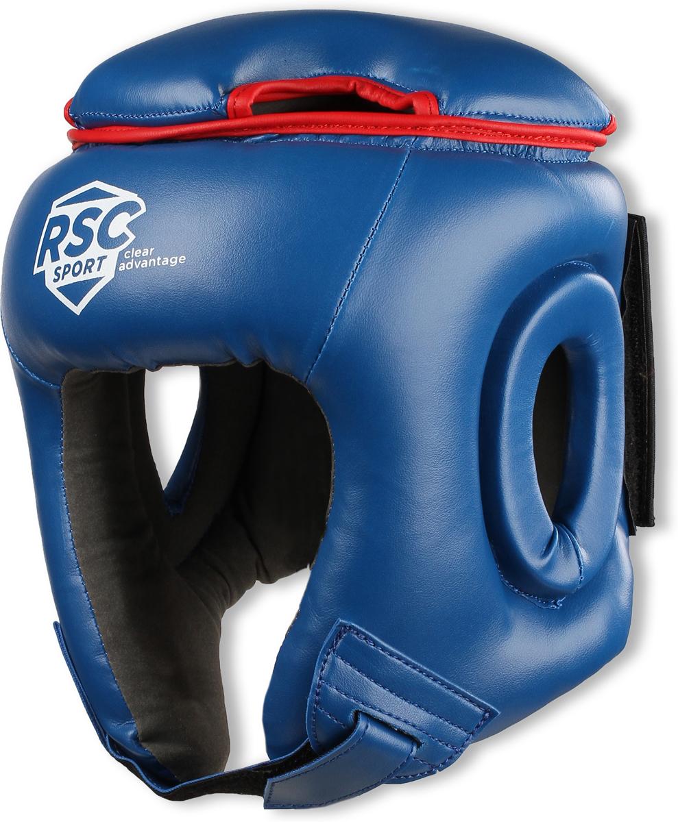 Шлем боксерский RSC PU BF BX 208, 00026582, синий, размер M шлем боксерский rsc pu bf bx 208 00026585 красный размер xl