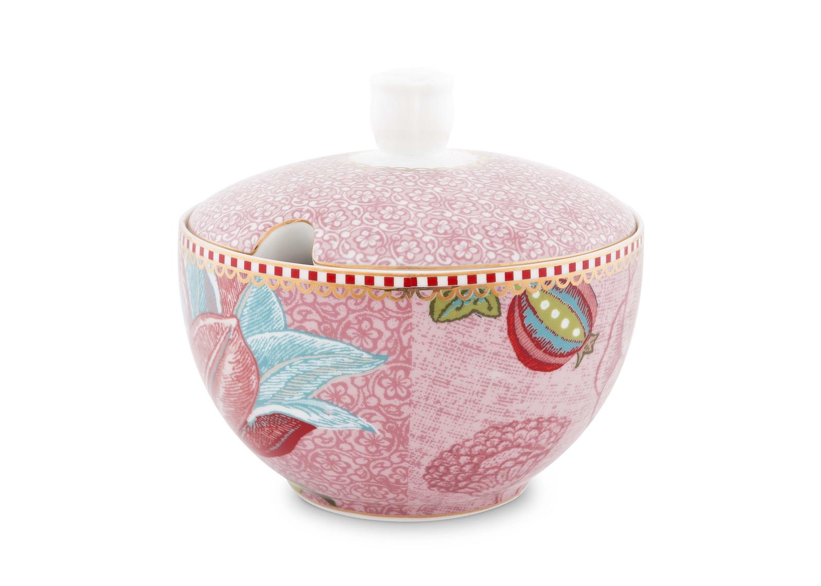 Сахарница PiP Studio Floral, цвет: розовый, разноцветный. 51.008.026