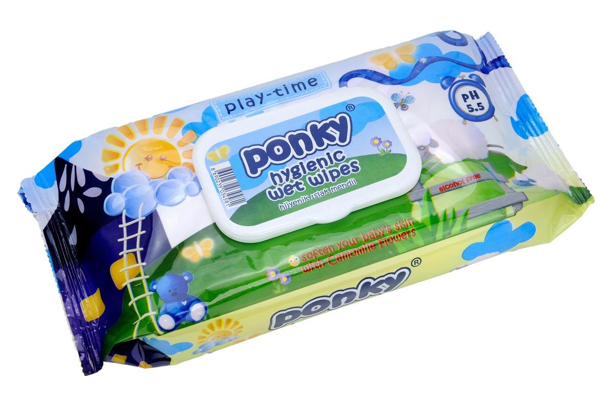 Салфетки детские влажные Ponky с крышкой, 8690239034604, 70 шт салфетки детские влажные ponky с крышкой 8690239034604 70 шт