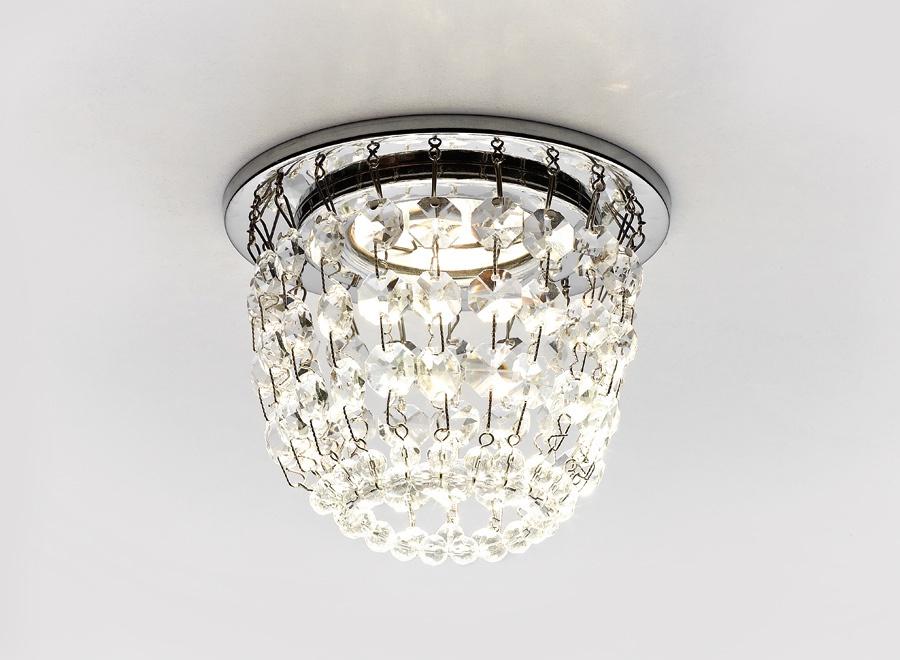 Точечный светильник K2075 CL/CH хром/прозрачный MR16 ambrella встраиваемый светильник ambrella led s701 cl ch ww