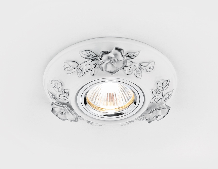 Точечный светильник D5503 W/CH белый хром керамика встраиваемый светильник ambrella led s299 s299 ch