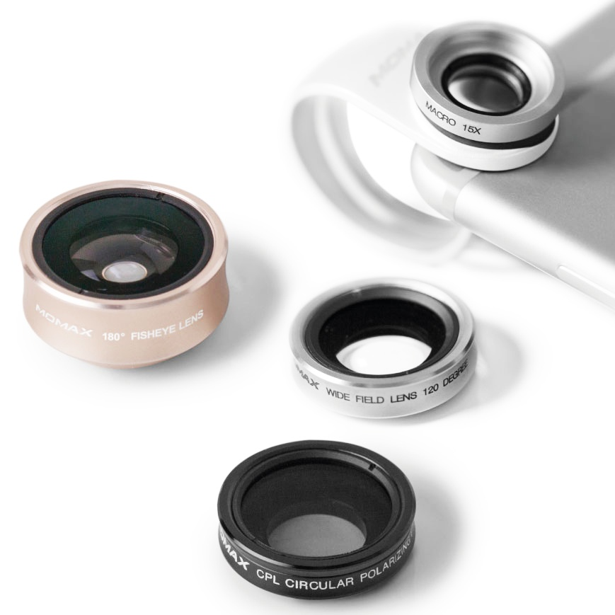 Объектив Momax X-Lens 4 in 1 Superior Lens Set, 4894222044272, серый металлик линза для маски electric eg3 lens fw16 clear o s