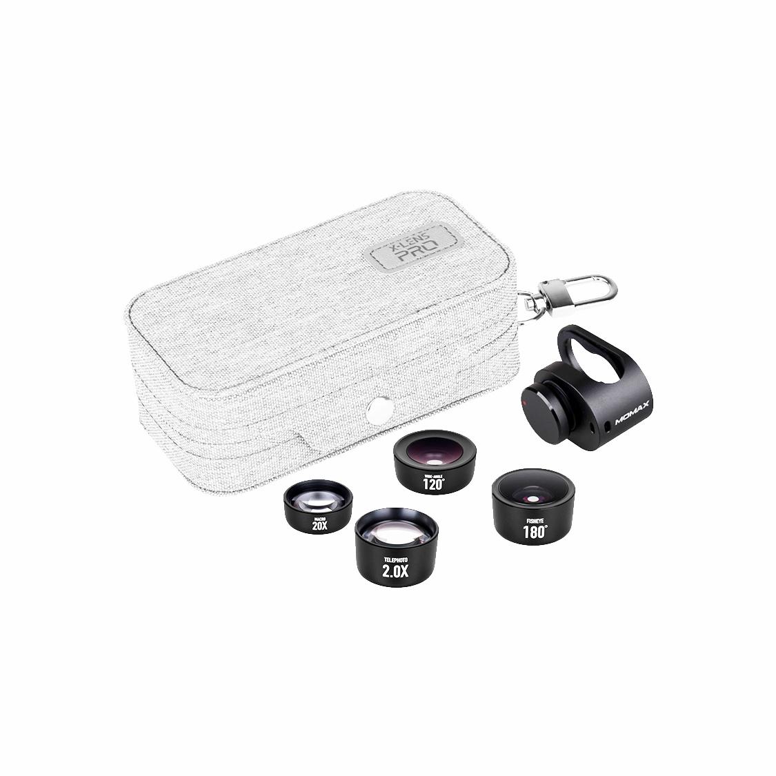 Фото - Объектив накладной Momax X-LENS PRO 4 IN 1 Premium Lens Kit, 4894222049154, черный линза