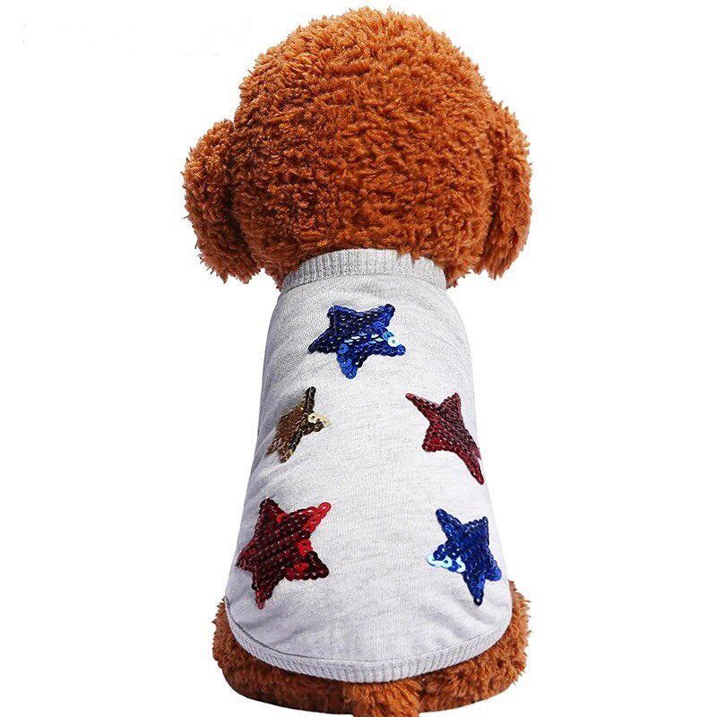 "Майка для собак Arnydog ""Звезды"" 330319662_xl, серый, размер XL(37cm)"