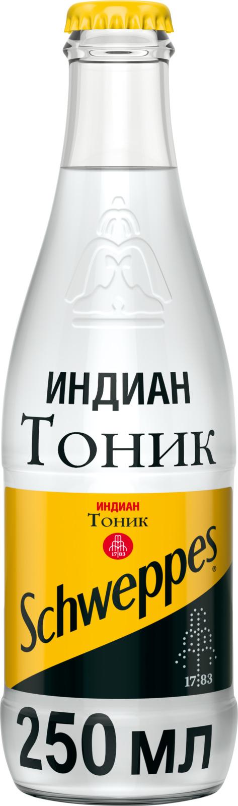 Schweppes Индиан Тоник напиток сильногазированный, 0,25 л schweppes индиан тоник напиток сильногазированный 9 штук по 1 5 л
