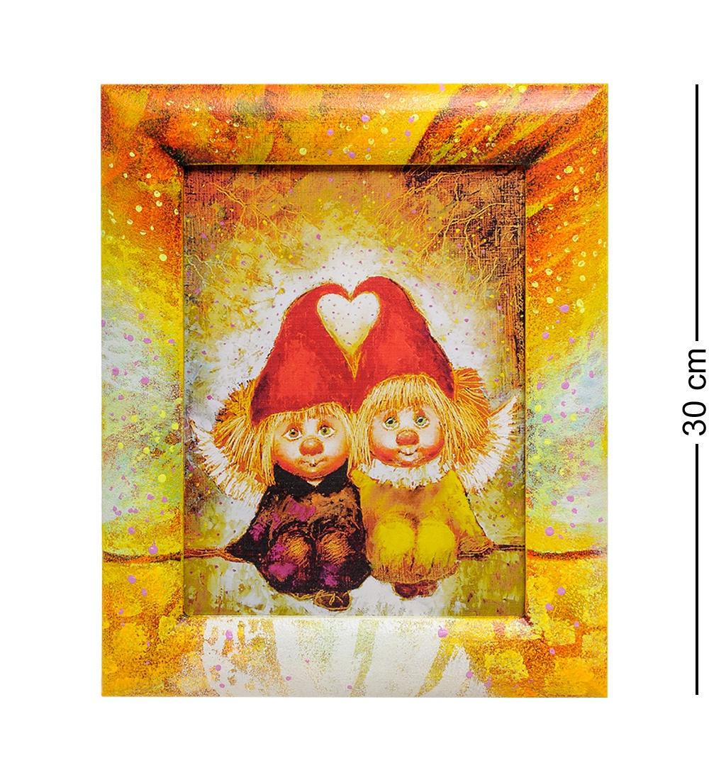 ANG- 72 Жикле в раме ''Ангелы вечной любви'' 18х24 ang 239 жикле ангелы вечной любви 18х24