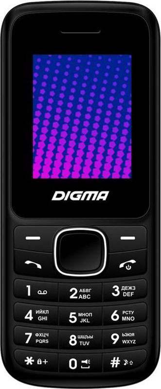 Мобильный телефон Digma Linx A170 2G, черный, фиолетовый gd