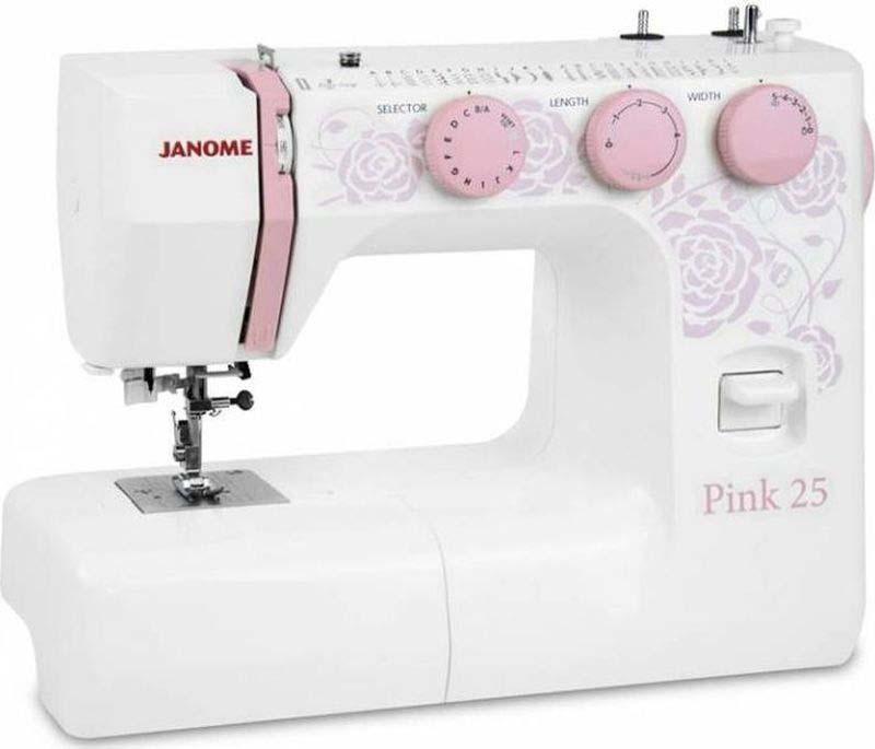 Швейная машина Janome 25, Pink260876Швейная машина Janome Pink 25 - оснащена надежным вертикальным качающимся челноком, применяемым в бытовых швейных машинах уже многие десятилетия. Данная модель обладает большим количеством рабочих и декоративных строчек. Среди них шитье зигзагом, которое широко используется для обметки, аппликации и пришивания пуговиц; трижды усиленный стежок, который рекомендуется для шитья эластичных тканей или трикотажа, и где нужна крепость и прочность шва; декоративная; эластичная и другие. Janome Pink 25 будет отличным выбором как для начинающих, так и для более опытных рукодельниц. Рекомендуем!