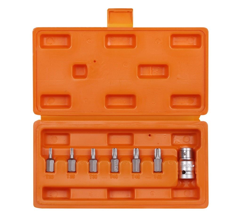 Набор бит вставок TORX 3/8 30мм с держателем бит 1/2 DR 7 предметов в кейсе (AT-B-20) набор бит bosch 7 предметов 2 607 001 937