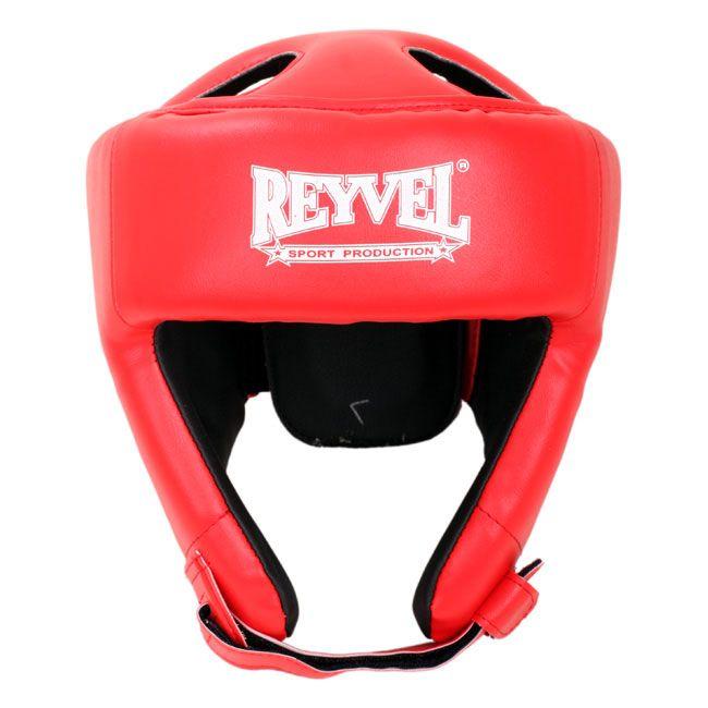 Шлем боксерский Reyvel Винил 2 Красный L