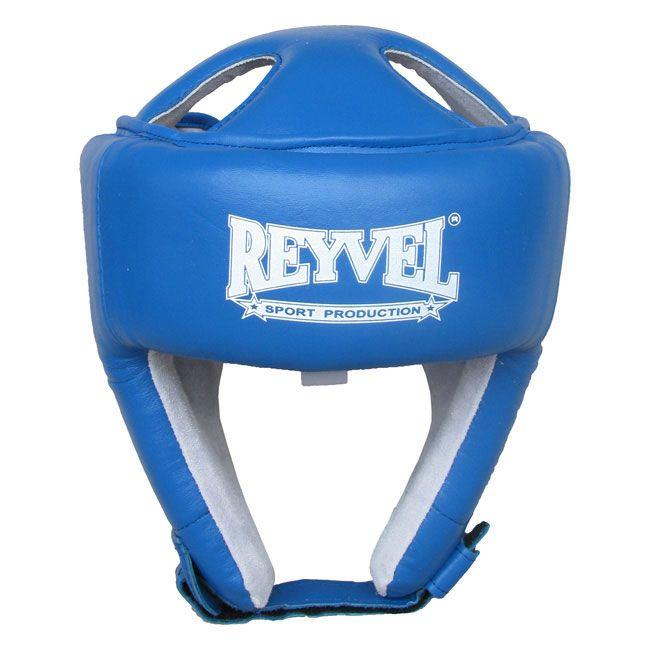 """Шлем боксерский Reyvel """"Кожа 2"""", SHRY003-BLM, синий, размер M"""