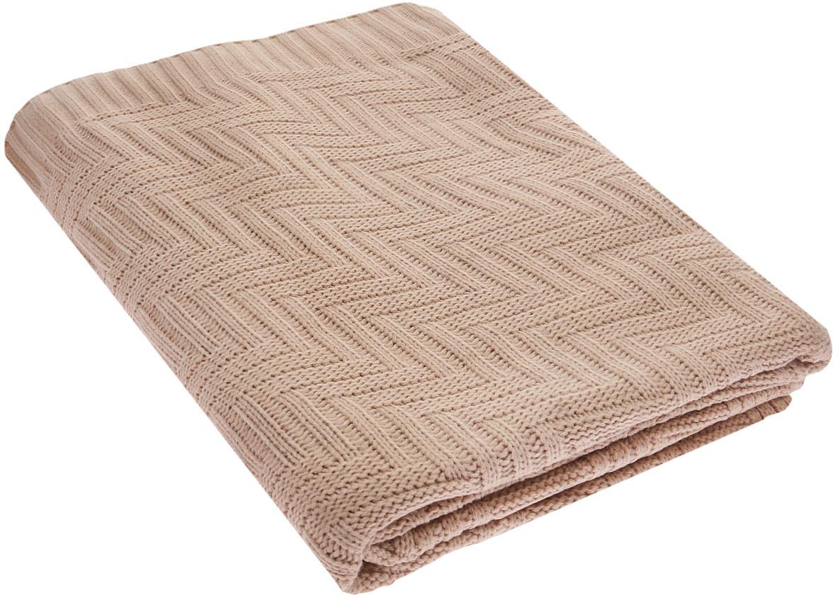 """Покрывало Guten Morgen """"Вязаное"""", цвет: бежевый, 120 х 180 см"""