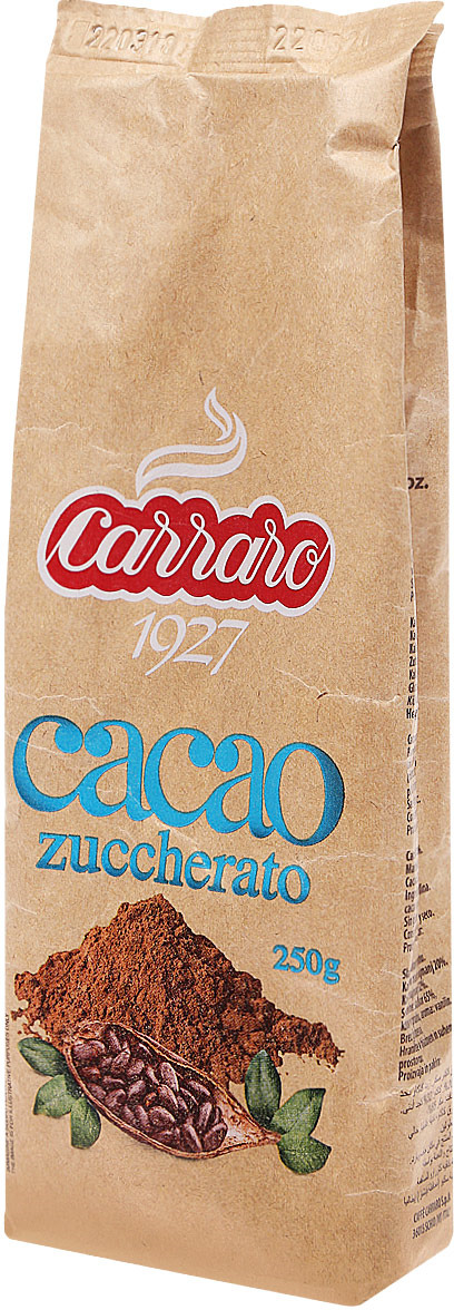 Фото - Carraro Sugar Cocoa какао с сахаром, 250 г cocoa west kitchen