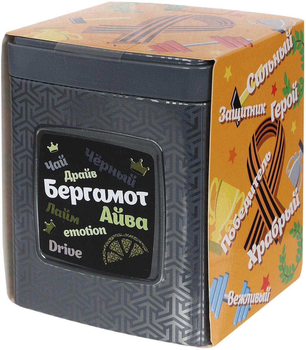 Чай черный листовой Мастер Тим Драйв, с бергамотом, 100 г чай черный байховый бонтон крепкий цейлонский крупнолистовой 726 с ароматом бергамота 100 г