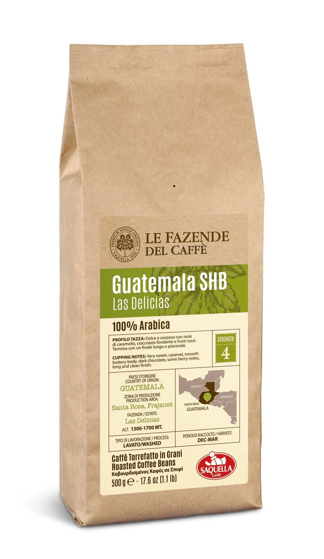 Кофе Saquella Single Origin Guatemala зерно в/у 500 г00026Saquella Single Origin Guatemala - эксклюзивная 100% арабика, выращенная на вулканических плантациях на высоте 1300-1700 метров над уровнем моря. В таком уникальном климате кофейное зерно созревает медленно и приобретает уникальный аромат с богатым шоколадным вкусом.
