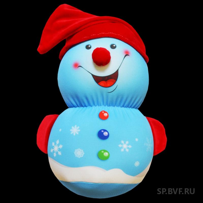 Мягкая игрушка Снеговик большой Оранжевый Кот
