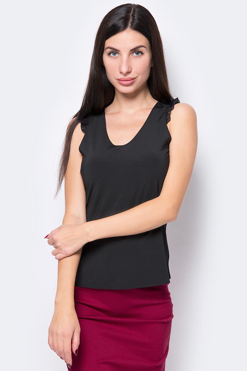 Топ женский Silvian Heach Chelva, цвет: черный. PGA18530CN_Black. Размер XS (40)PGA18530CN_Black