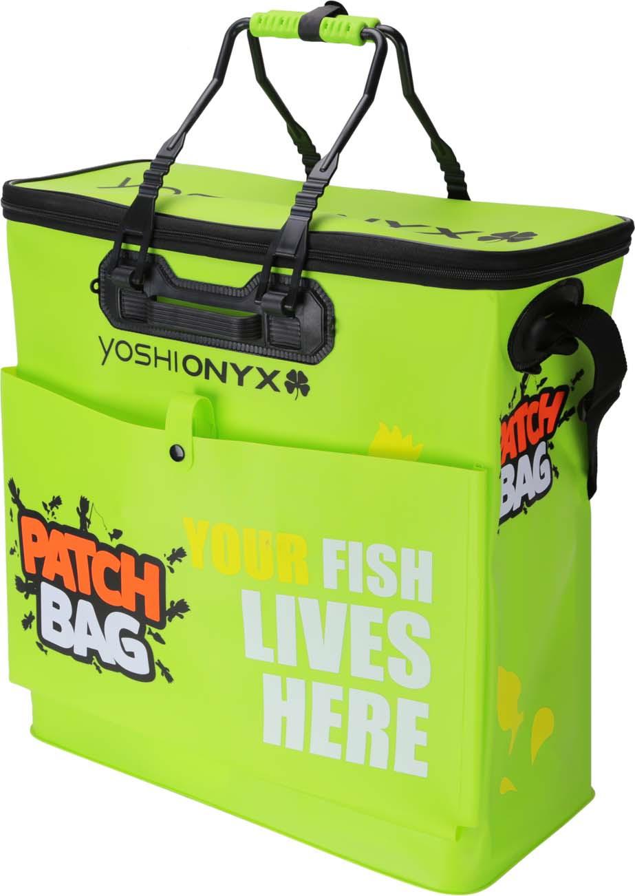 Сумка рыболовная Yoshi Onyx Patch Bag, складная, с карманом, цвет: зеленый, 50 х 23 х 50 см