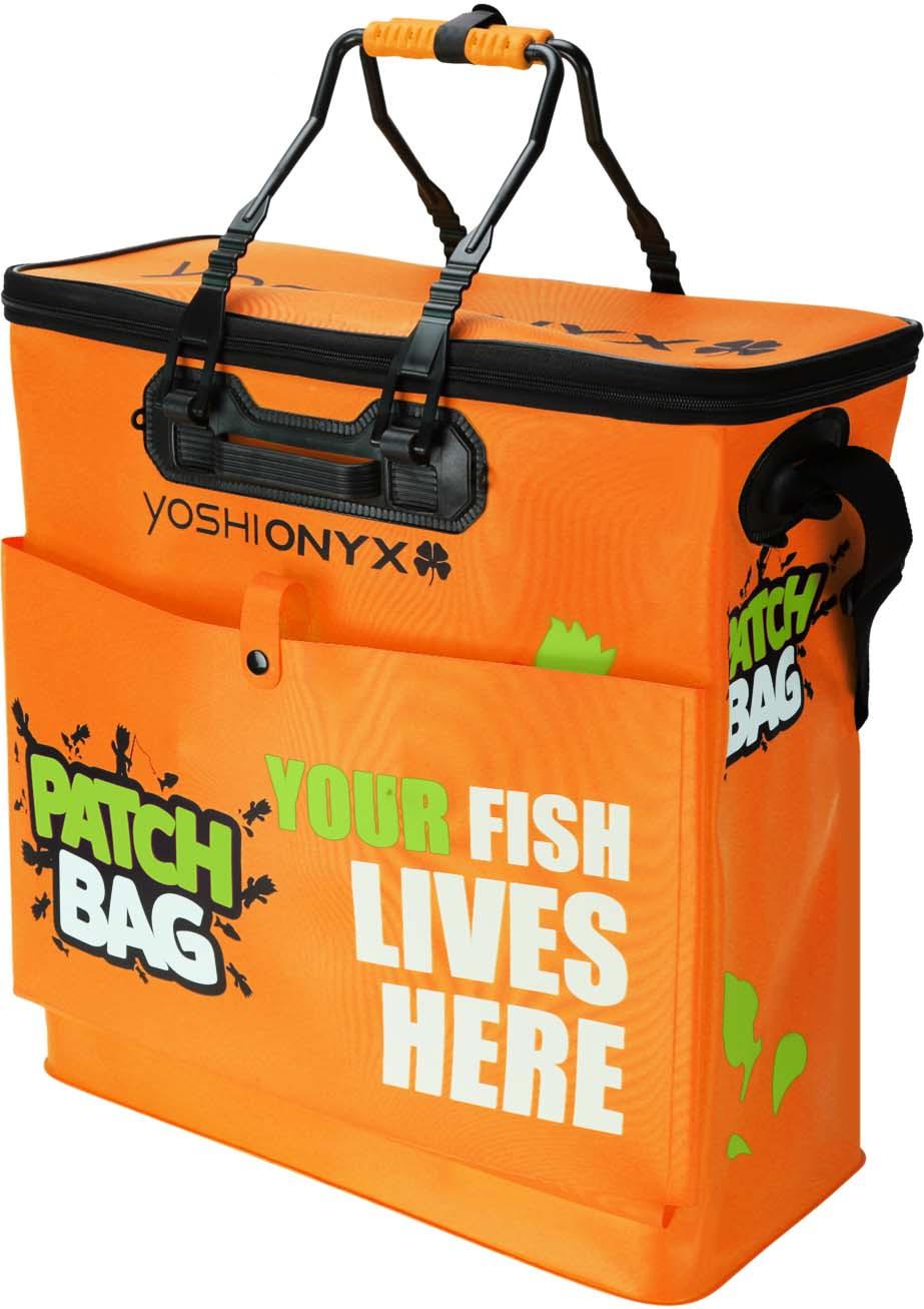 Сумка рыболовная Yoshi Onyx Patch Bag, складная, с карманом, цвет: оранжевый, 50 х 23 х 50 см