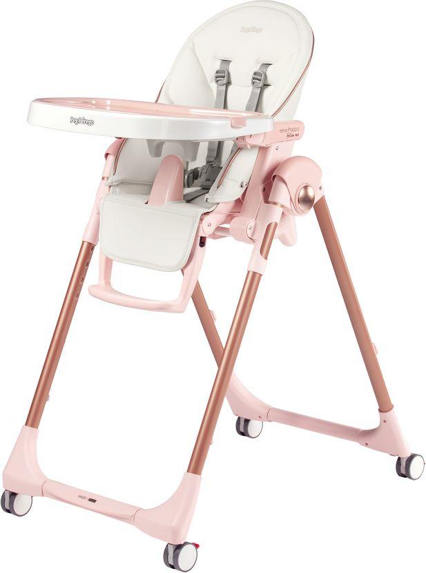 Стульчик для кормления Peg-Perego Prima Pappa Follow Me Mon Amour, цвет: светло-розовый вкладыши и чехлы для стульчика capina чехол из эко кожи на стульчик peg perego prima pappa best