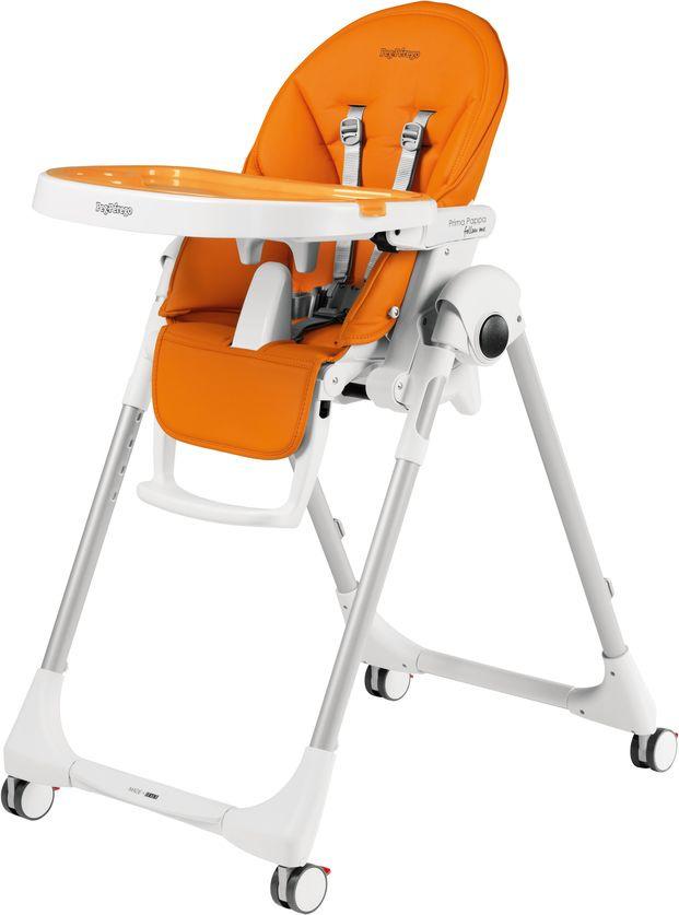 купить Стульчик для кормления Peg-Perego Prima Pappa Follow Me Arancia, цвет: оранжевый онлайн