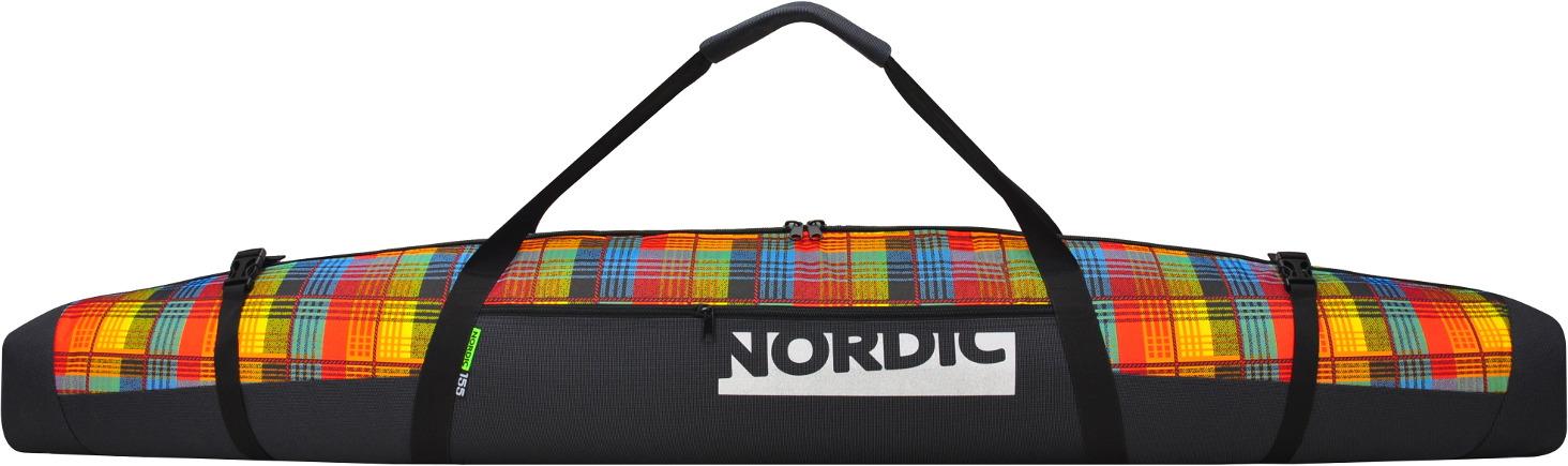 Чехол для горных лыж Nordic, цвет: красный, 155 см