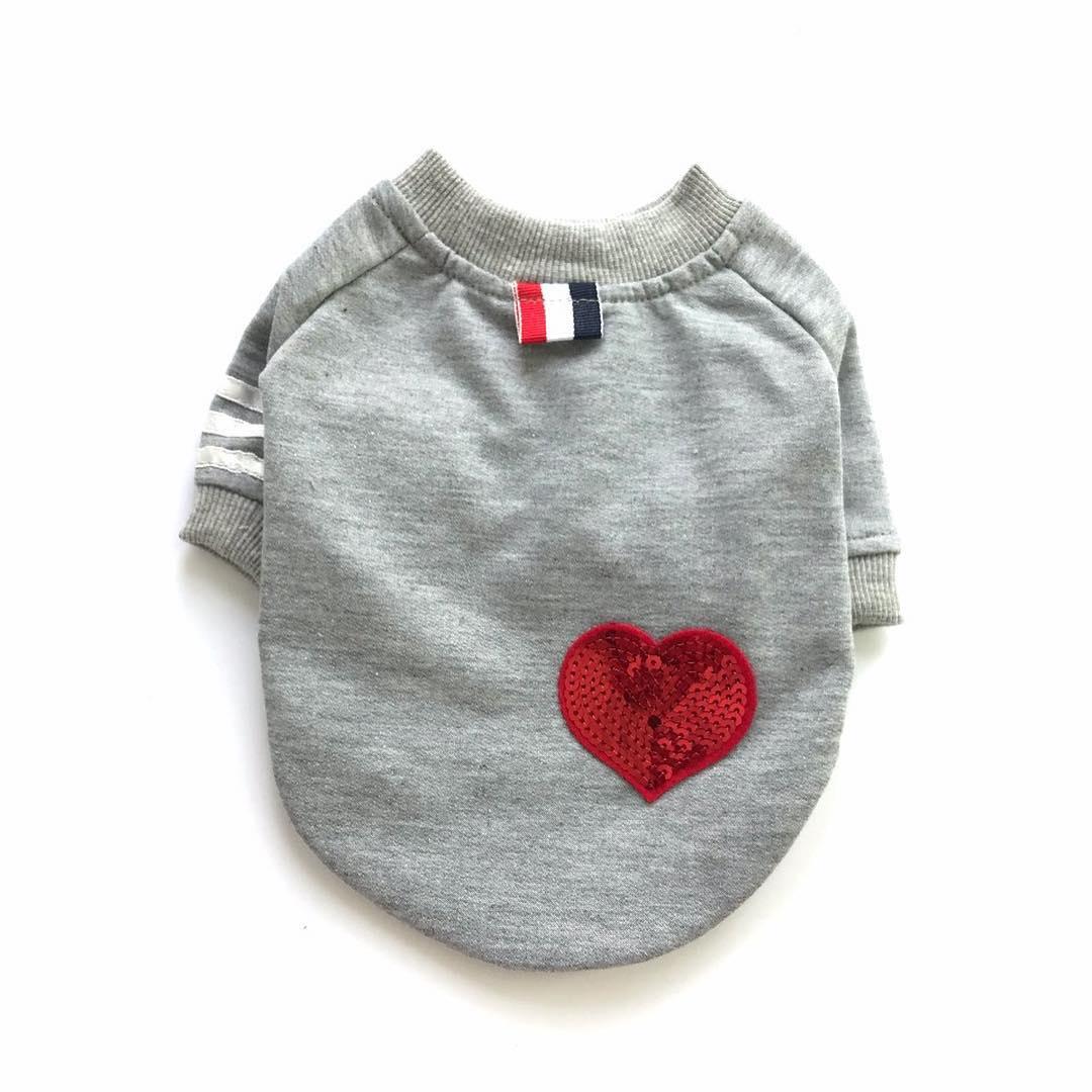 "Толстовка для собак Arnydog.ru ""Сердце"" 3303196572_m, серый, размер M(28cm)"